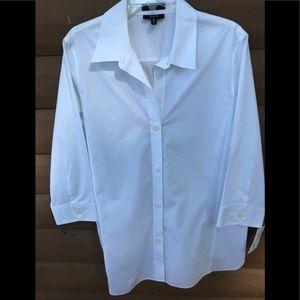 Foxcroft white button down blouse